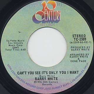 Barry White / Don't Make Me Wait Too Long back