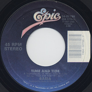 Basia / Time And Tide c/w Run For Cover