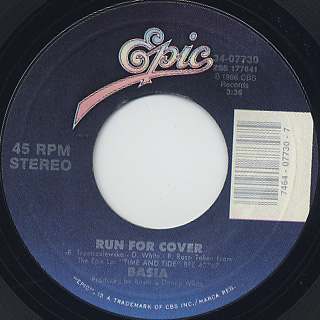 Basia / Time And Tide c/w Run For Cover back