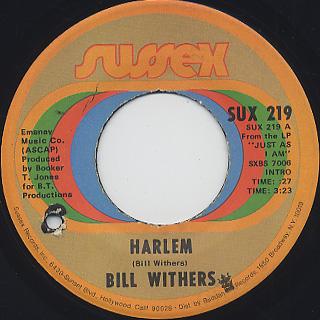 Bill Withers / Harlem c/w Ain't No Sunshine