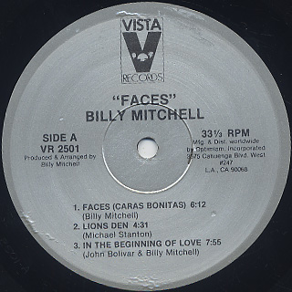Billy Mitchell / Faces label