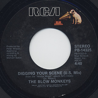 Blow Monkeys / Digging Your Scene(U.S.Mix) c/w (U.K.Mix)