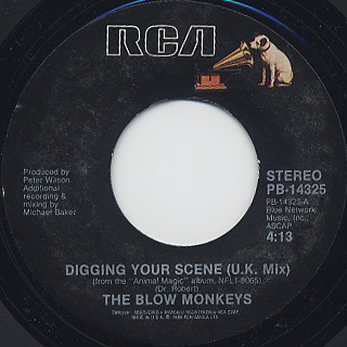 Blow Monkeys / Digging Your Scene(U.S.Mix) c/w (U.K.Mix) back