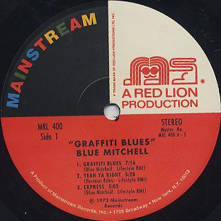 Blue Mitchell / Graffiti Blues label