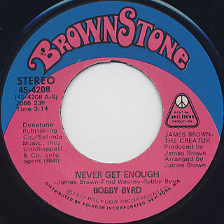 Bobby Byrd / Never Get Enough