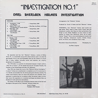 Carl Sherlock Holmes / Investigation No.1 back