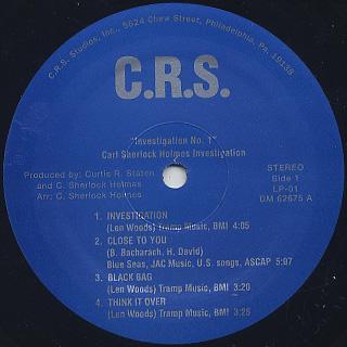 Carl Sherlock Holmes / Investigation No.1 label
