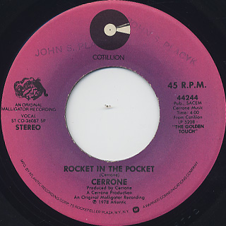 Cerrone / Je Suis Music c/w Rocket In The Pocket back