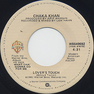Chaka Khan / What Cha' Gonna Do For Me back