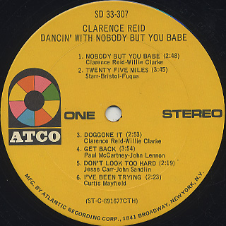Clarence Reid / Dancin' With Nobody But You Babe label
