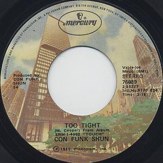 Con Funk Shun / Too Tight c/w Play Widit