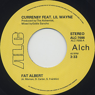 Curren$y Feat. Lil Wayne / Fat Albert (prod. Alchemist) label