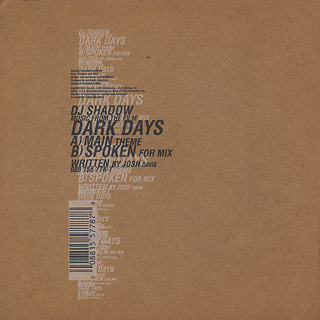 DJ Shadow / Dark Days back