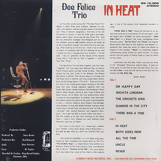 Dee Felice Trio / In Heat back