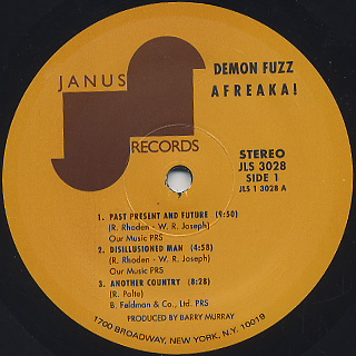 Demon Fuzz / Afreaka! label