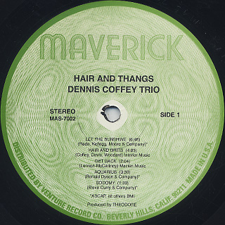 Dennis Coffey Trio / Hair And Thangs label
