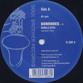 Donald Byrd / Dominoes c/w Wind Parade back