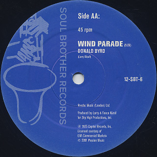 Donald Byrd / Dominoes c/w Wind Parade label