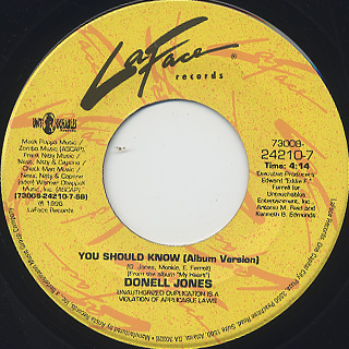 Donell Jones / Knocks Me Off My Feet c/w You Should Know back