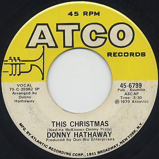 Donny Hathaway / This Christmas (VG+)