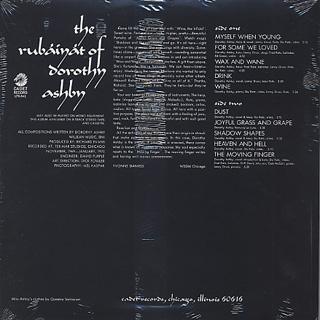 Dorothy Ashby / The Rubaiyat Of Dorothy Ashby back