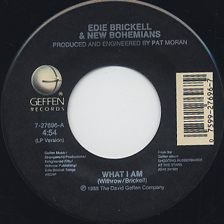 Edie Brickell & New Bohemians / What I Am label