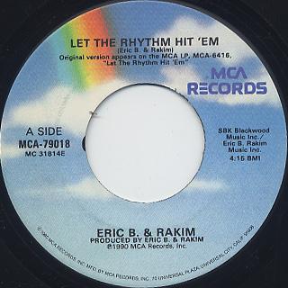 Eric B. & Rakim / Let The Rhythm Hit 'Em (EX)
