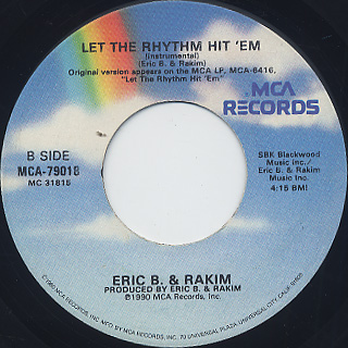 Eric B. & Rakim / Let The Rhythm Hit 'Em (VG+) back