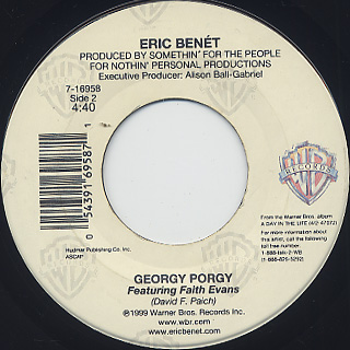 Eric Benet / Spend My Life With You c/w Georgy Porgy back