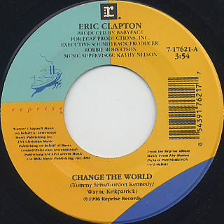 Eric Clapton / Change The World front