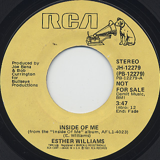 Esther Williams / Inside Of Me (45) front