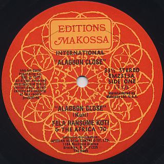 Fela Ransome Kuti & Africa 70 / Alagbon Close label