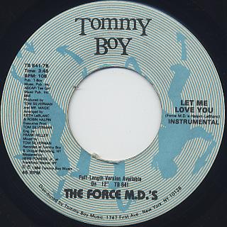 Force MD's / Let Me Love You back