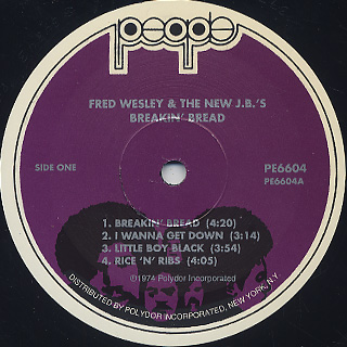 Fred & The New J.B.'s / Breakin' Bread label