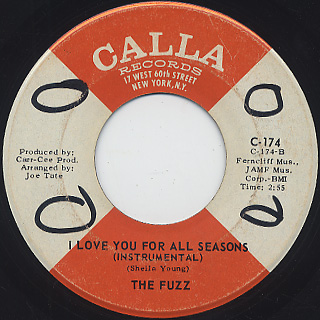 Fuzz / I Love You For All Seasons c/w (Instrumental) back