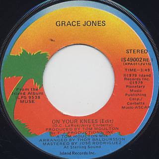 Grace Jones / On Your Knees c/w Don't Mess With The Messer
