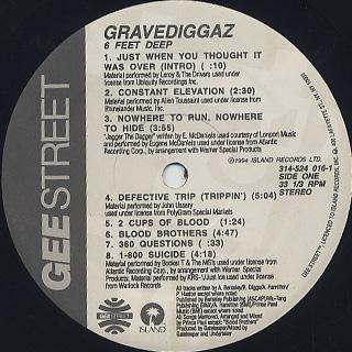 Gravediggaz / 6 Feet Deep label