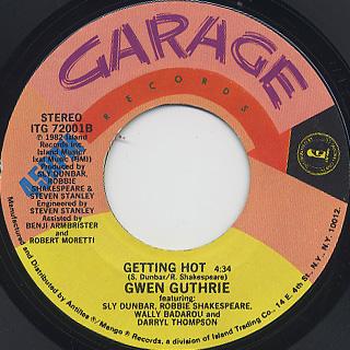Gwen Guthrie / Padlock c/w Getting Hot back