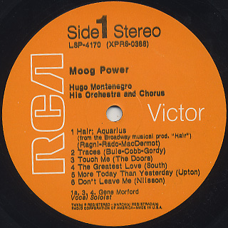 Hugo Montenegro / Moog Power label