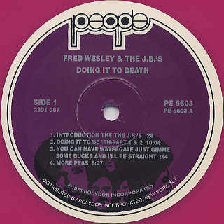 J.B.'s / Doing It To Death label