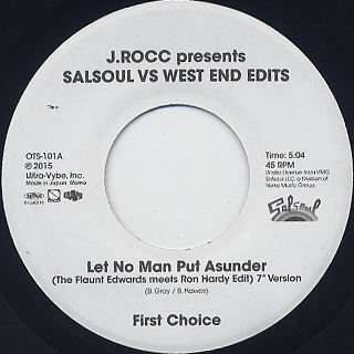 J. Rocc / Salsoul Vs West End front