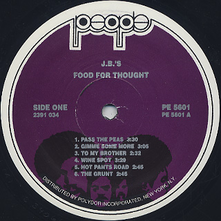 JB's / Food For Thought label