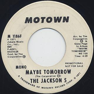 Jackson 5 / Maybe Tomorrow (7