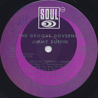 Jimmy Ruffin / The Groove Governor label