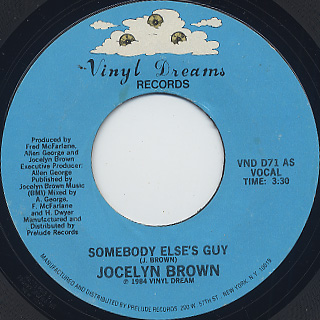 Jocelyn Brown / Somebody Else's Guy (7