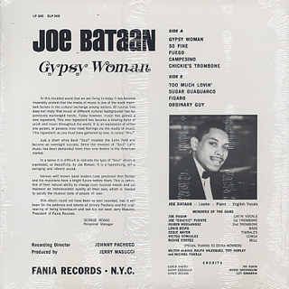 Joe Bataan / Gypsy Woman back
