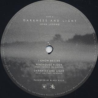 John Legend / Darkneess And Light label