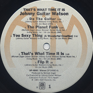 Johnny Guitar Watson / That's What Time It Is label