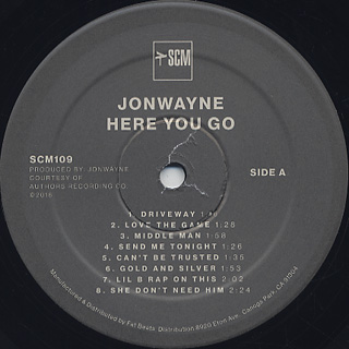 Jonwayne / Here You Go label