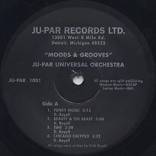 Ju-Par Universal Orchestra / Moods and Grooves label